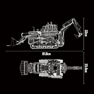 Mould King 17023 Pneumatic Bulldozer Maße