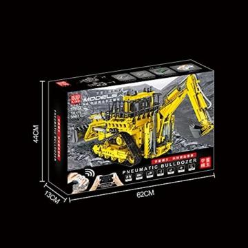 Mould King 17023 Pneumatic Bulldozer Maße der Box