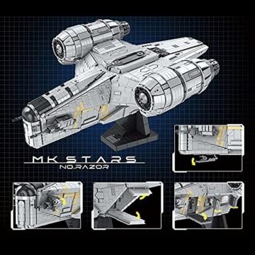 Mould King 21023 Razor Starship maße