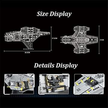 Mould King 21023 Razor Starship 2