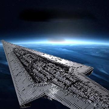 WANCHENG Technik Sternenzerstörer Modell, 7588 Teile Zerstörer, Mould King 13134 Technik Bausatz, Supersternenzerstörer Custom Bausteine Weltraum Destroyer Schiff Kompatibel mit Lego