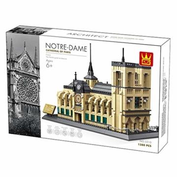 WANGE Kathedrale Notre Dame - ArtikelNr. 5210, Anzahl der Teile: 1380 - 2