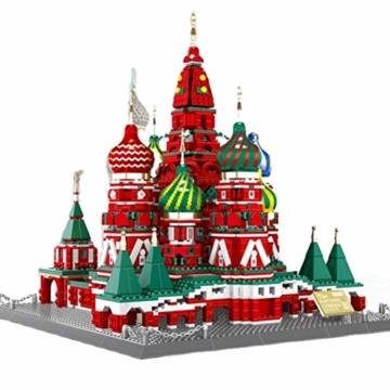 WANGE - St. Basilius Kathedrale Moskau aus Klemmbausteinen . W6213 - 1