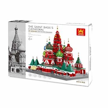 WANGE - St. Basilius Kathedrale Moskau aus Klemmbausteinen . W6213 - 2