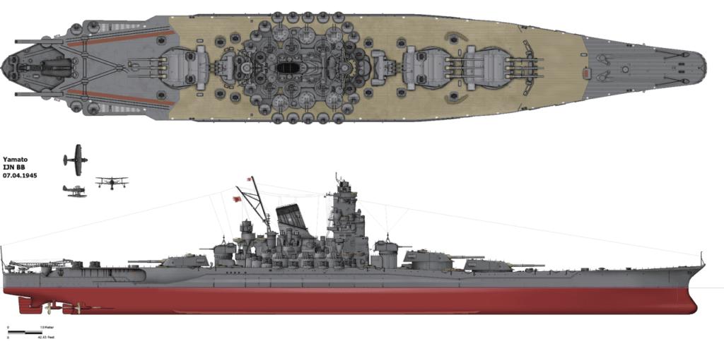 Yamato schlachtschiff bauplan